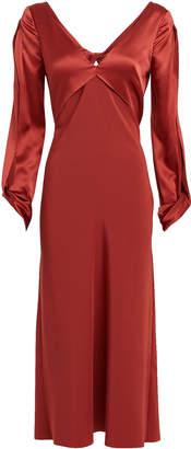 Dion Lee Twisted Satin & Crepe Silk Dress