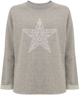 Mint Velvet Grey Embroidered Star Sweat