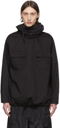 Engineered Garments Black Hooded Cagoul Shirt