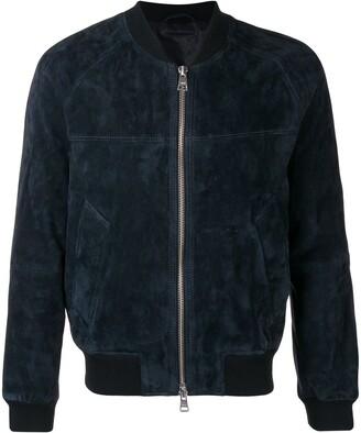 Ami Paris Zipped suede jacket