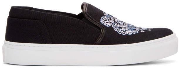8c2f831572 Black Tiger K-Skate Slip-On Sneakers