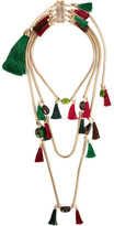 Rosantica Frivola Tasseled Gold-tone Tourmaline Agate Necklace - one size