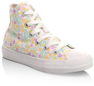 Converse Girl's Chuck Taylor Hi-Top Floral Sneakers