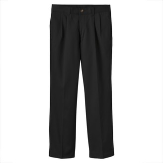 Chaps Boys 8-20 & Husky School Uniform Pleated Twill Pants