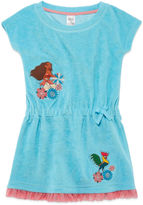 Disney Girls Moana Solid Dress-Big Kid