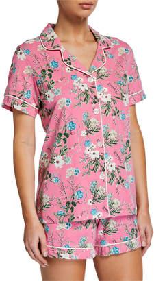 Bedhead Pajamas Plus Size Ladybug Floral Shorty Pajama Set
