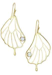Annette Ferdinandsen Women's 18K Yellow Gold & Opal Pampion Wing Drop Earrings