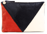 Clare Vivier Women's Patchwork V Flat Clutch Bag Patchwork Neuf