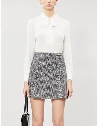Claudie Pierlot Tie-collar linen blouse