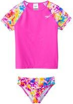 Speedo Girls' Tie Dye Splash Rashguard Two Piece Set (4yrs6X) - 8137115