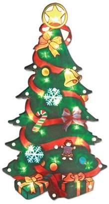 The Benross Christmas Workshop LED Christmas Tree Metallic Silhouette Light, Plastic