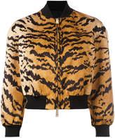 DSQUARED2 tiger print bomber jacket