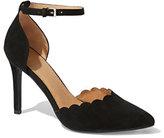 New York & Co. Scallop-Edge Ankle-Strap Pump