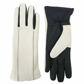 URBAN RESEARCH U|R Powered Womens Leather & Stretch Touchscreen Gloves