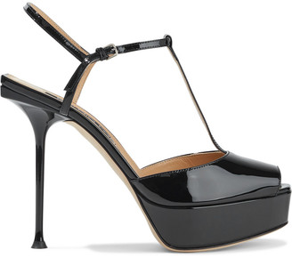 Sergio Rossi Sr Milano Patent-leather Platform Sandals