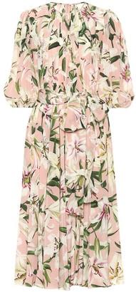 Dolce & Gabbana Floral silk midi dress