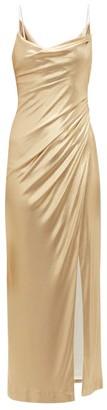Galvan Mars Metallic Midi Dress - Womens - Gold