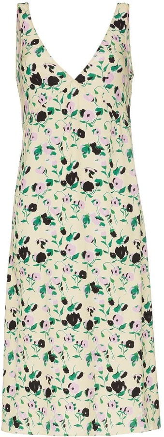 Plan C Floral Print Slip Dress