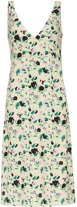 Plan C Floral Print Slip Dress