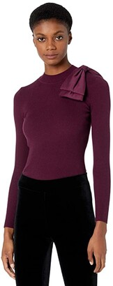 Ted Baker Extravagant Bow Jumper (Oxblood) Women's Sweater