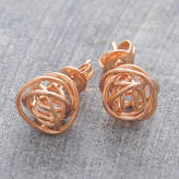 Otis Jaxon Silver Jewellery Rose Gold Nest Stud Earrings