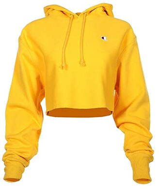Champion LIFE Reverse Weave(r) Cropped Cut Off Pullover Hoodie (Team Gold) Women's Clothing