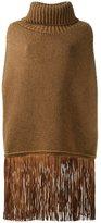 Agnona cashmere fringed jumper - women - Lamb Skin/Cashmere - M