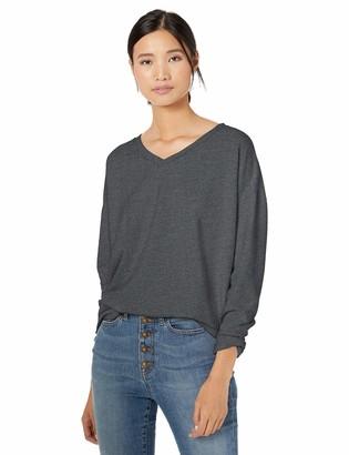 Goodthreads Amazon Brand Women's Modal Fleece V-Neck Drop-Shoulder Sweatshirt