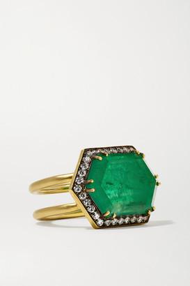 Sylva & Cie 18-karat Gold, Emerald And Diamond Ring