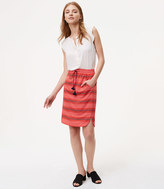 LOFT Petite Striped Drawstring Skirt
