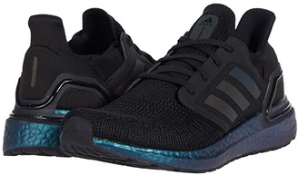 adidas Ultraboost 20 (Core Black/Core Black/Signal Cyan) Men's Running Shoes
