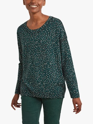 Gerard Darel Danny Leopard Print Merino Wool Jumper, Green