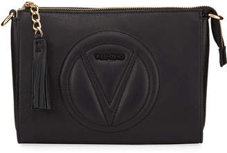 Mario Valentino Valentino By Susanne Quilted Logo Leather Shoulder Bag