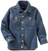 Osh Kosh Boys 4-8 Woven Denim Button-Down Shirt