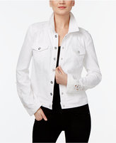 INC International Concepts Crochet-Inset Denim Jacket, Created for Macy's
