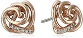 Fossil Glitz Knot Stud Earrings