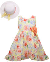 Bonnie Jean Toddler Girls 2-pc. Sleeveless A-Line Dress, 2t , Yellow