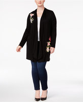 INC International Concepts Plus Size Embroidered Duster Cardigan, Created for Macy's