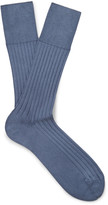 Marcoliani - Ribbed Cotton-blend Socks