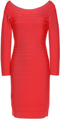 Herve Leger Candice Off-the-shoulder Bandage Mini Dress