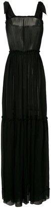 AMIR SLAMA Silk Maxi Dress