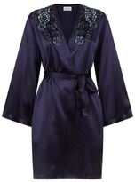 Marjolaine Coquine Embroidered Silk Robe