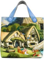 MonnaLisa cottage print shoulder bag - kids - Polyester/Viscose - One Size