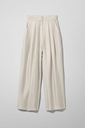 Weekday Dree Trousers - Beige