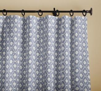 Pottery Barn Kaila Trellis Print Curtain - Gray