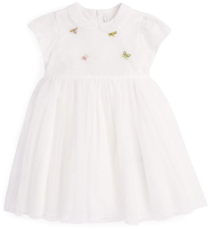 Il Gufo Embroidered Dress (3 Months-4 Years)