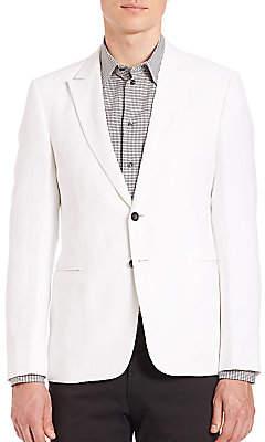 Armani Collezioni Men's White Blazer