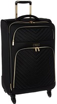 Kenneth Cole Reaction Chelsea - 24 Quilted Expandable 4-Wheel Upright Pullman (Black) Luggage