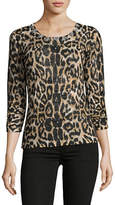 I.N.C International Concepts Petite Leopard Sheen Shirt
