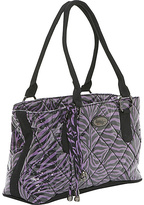 Donna Sharp Reese Bag, Purple Zebra